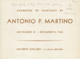 Exhibition of paintings by Antonio P. Martino