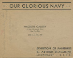 Our glorious Navy ... exhibition of paintings by Arthur Beaumont Lieutenant, U.S.N.R