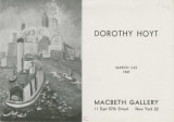 Dorothy Hoyt; March 3-22, 1947 : Macbeth Gallery