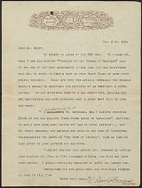 W. Lewis Frazer letter to F.B. Mayer, 1894