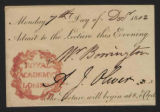 Admission tickets to the Royal Academy of London lectures and other events, 1812-1864, bulk...