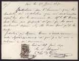 Receipt from Camus to Charles Warren Cram, 1891