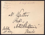 F. Hopkinson Smith letter to M. Walters, undated