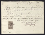 Receipt from G. Garoud to Charles Warren Cram, 1891