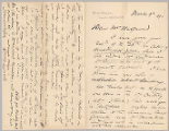 Letter from George Henry Boughton to Henry Gurdon Marquand, Mar. 9, 1890
