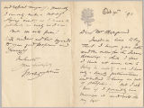 Letter from George Henry Boughton to Henry Gurdon Marquand, Oct. 4, 1890