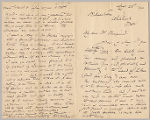 Letter from George Henry Boughton to Henry Gurdon Marquand, Aug. 23, 1894