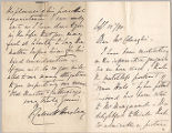 Letter from N. Horsley to Martin H. Colnaghi, Sept. 12, 1890