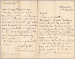 Letter from Charles W. Deschamps to Henry Gurdon Marquand, Mar. 10, 1887