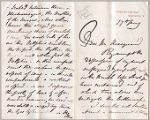Letter from Frederic Leighton to Henry Gurdon Marquand, May 17, [no year given]