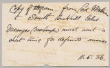 Copy of telegram from Paul Sanford Methuen to H. Herbert Smith, May 11, 1886