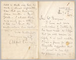 Letter from Alfred Parsons to Henry Gurdon Marquand, Jan. 6, 1887