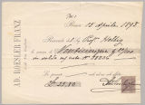 Receipt from Ad. Roesler Franz to Wolfgang Helbig, Apr. 15, 1893