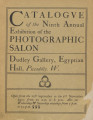 Catalogue of the ninth annual exhibition of the Photographic Salon