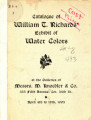 Catalogue of William T. Richards' exhibit of water colors