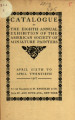 Catalogue of the eighth annual exhibition of the American Society of Miniature Painters