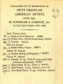 Catalogue of an exhibition of fifty prints by American artists