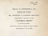Messrs. M. Knoedler & Co. request the honour of your visit to view Mr. George de Forest...