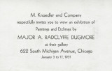 M. Knoedler and Company respectfully invites you to view an exhibition of paintings and etchings...