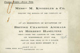 Messrs. M. Knoedler & Co. request the honour of the company of ... at an exhibition of...