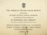 The American Water Color Society announces its forty-seventh annual exhibition