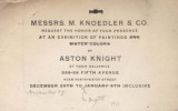 Messrs. M. Knoedler & Co. request the honor of your presence at an exhibition of paintings and...