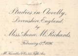 Studies in Clovelly, Devonshire, England by Miss Anna M. Richards : February 17, 1896