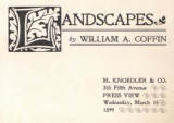 Landscapes by William A. Coffin