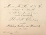 Messrs. M. Knoedler & Co. request the honor of a visit to view a number of portraits by...