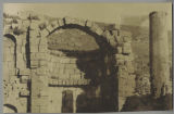 Amman (Jordan): view of apse and column in unidentified building